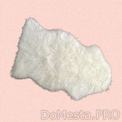 ТОФТЛУНД Ковер, белый, 55x85 см