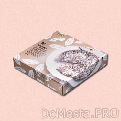 KAFFEREP Шоколадный торт с вязкой серединой, замороженный 0,4 кг.