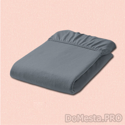 УЛЛЬВИДЕ Простыня натяжная, серый, 140x200 см