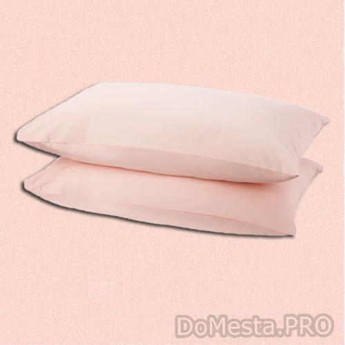 ДВАЛА Наволочка, светло-розовый, 50x70 см/ 2 шт