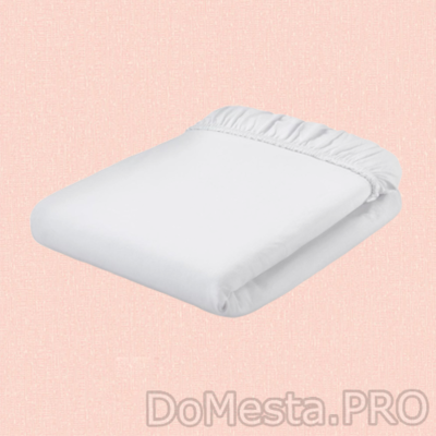 НАТТЭСМИН Простыня натяжная, белый, 180x200 см
