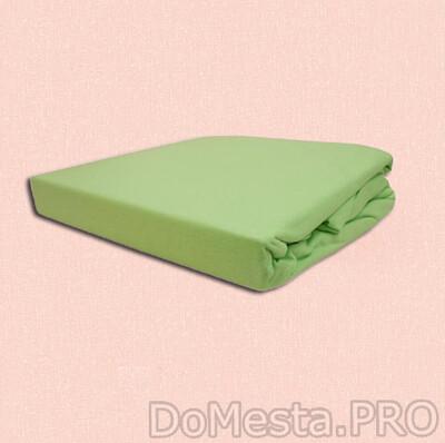 ДВАЛА Простыня натяжная, светло-зеленый, 140x200 см