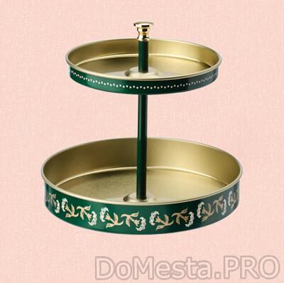 АНИЛИНАРЕ Подставка д/канцелярских принадлежностей, зеленый золотой, металлический, 12x11 см