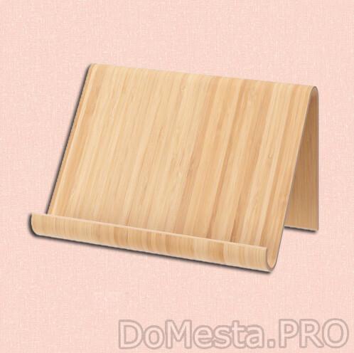 ВИВАЛЛА Подставка для планшета, бамбуковый шпон, 26x17 см