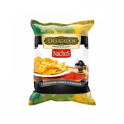 Чипсы кукурузные Начос с кусочками оливок и паприкой 150 г