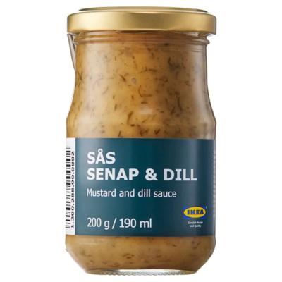 Соус с горчицей и укропом SÅS SENAP & DILL, 200 г.