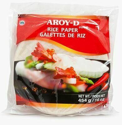 Рисовая бумага круглая 22 см, 454 г, AROY-D, Таиланд