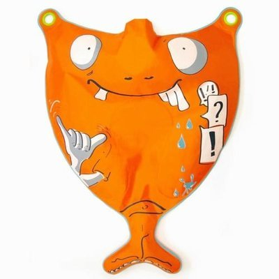 00109 Žepni surf Splitzer Print oranžen