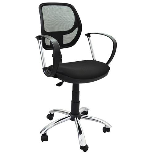 Компьютерное кресло Сатурн хром