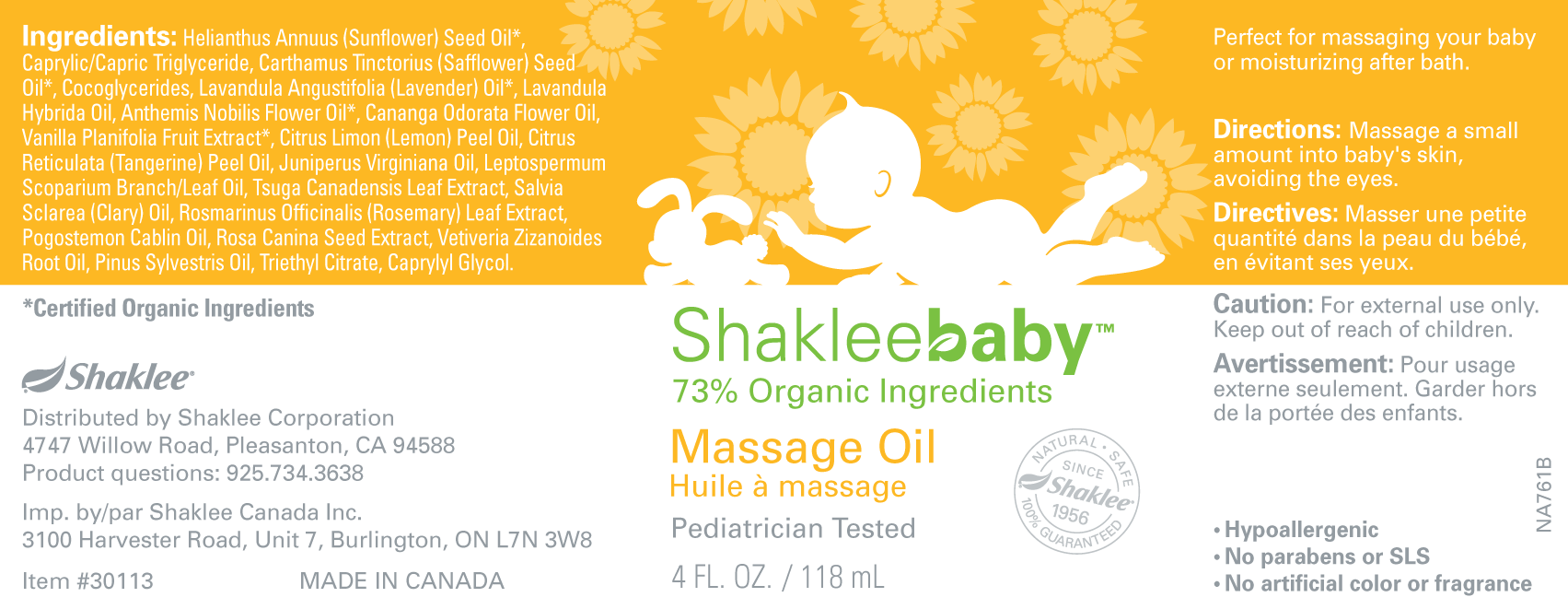 Shakleebaby Massage Oil