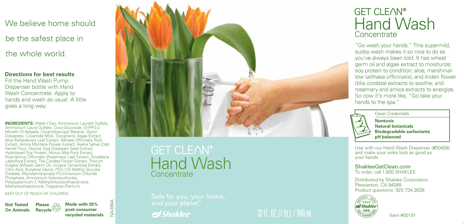 Hand Wash Concentrate Label