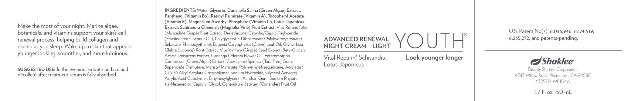 Advanced Renewal Night Cream- Light