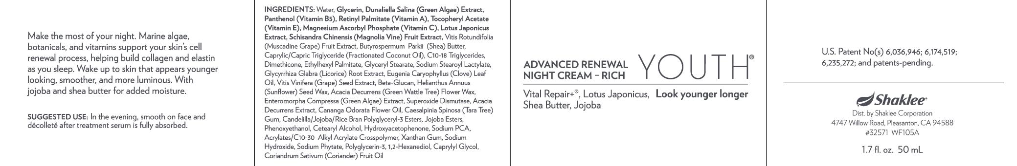 Advanced Renewal Night Cream- Rich