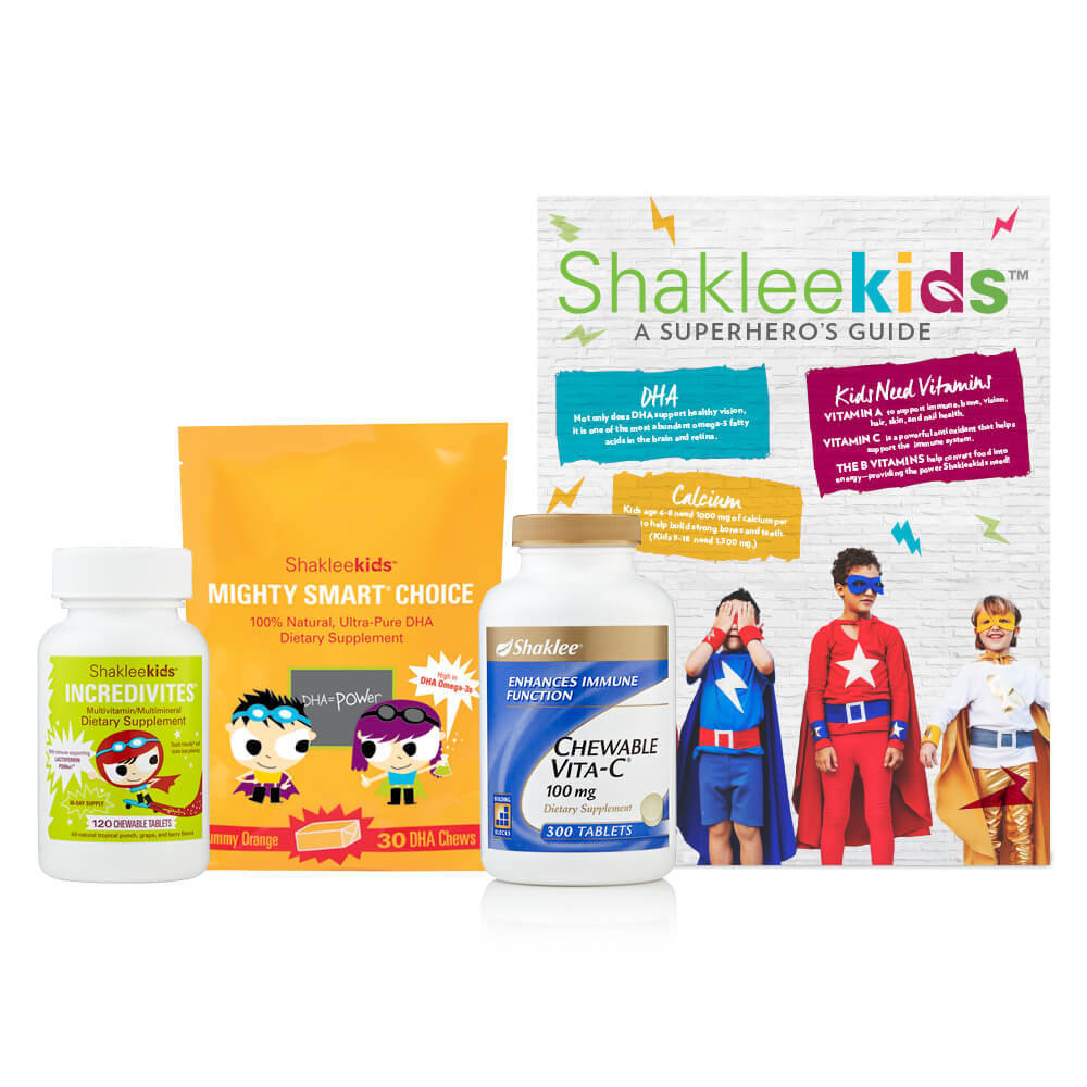 Shaklee Kids Power Pack: Incredivites, Mighty Smart Choice, Chewable Vitamin C 89423