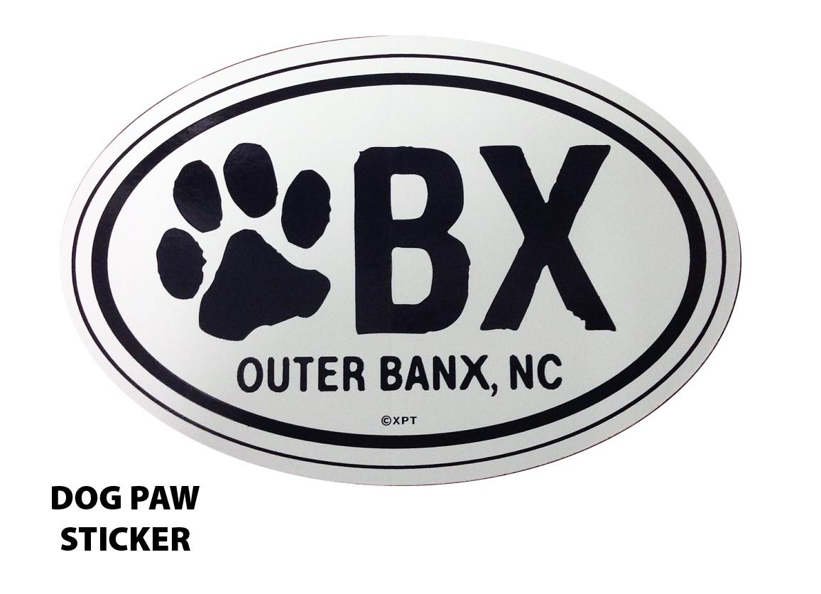 OBX Dog Paw Sticker 65183