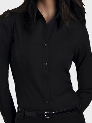 Ladies Urban Long Sleeve Poplin Shirt
