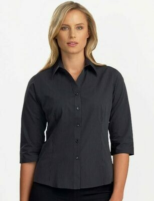 Womens 3/4 Sleeve Dark Stripe Shirt