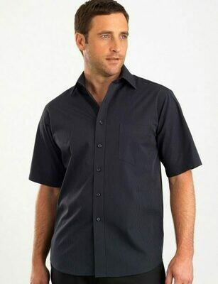 Mens Short Sleeve Dark Stripe Shirt