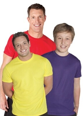 Fit Poly Adults/Kids Tee Shirt