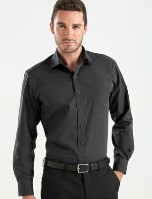 Mens Long Sleeve Dark Stripe Shirt