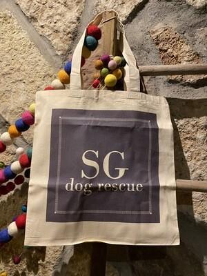 SG dog rescue monogram-ish basic tote