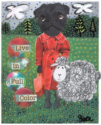 Live In Full Color Art Print Signed by Artist