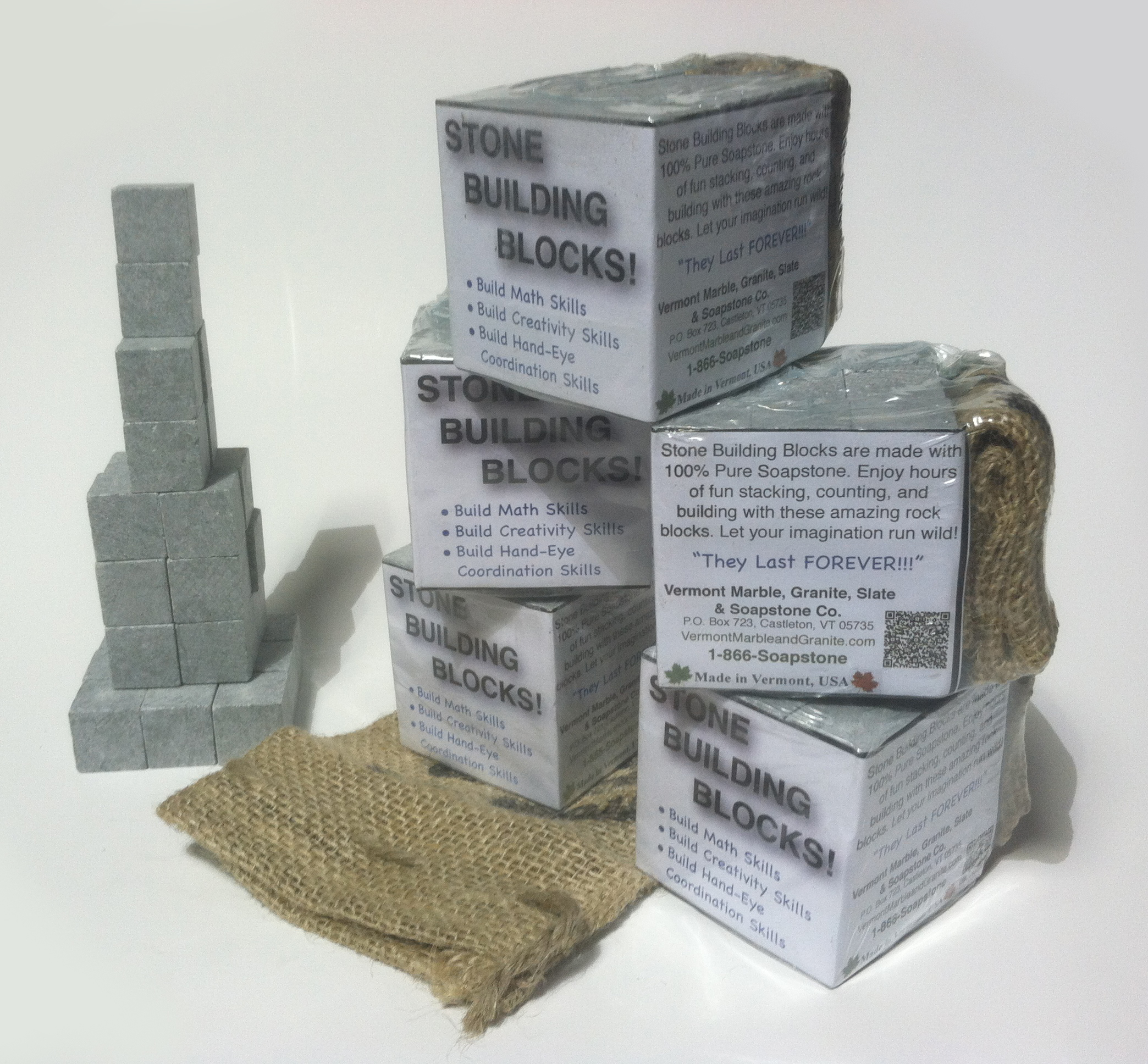 Granite Building Blocks : Stone building blocks vermont gifts store