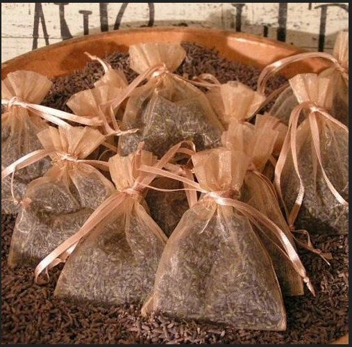 Wedding Lavender Toss Bags - Package of 6