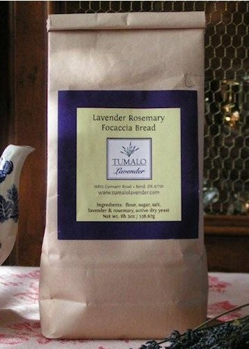 Lavender Rosemary Focaccia Bread