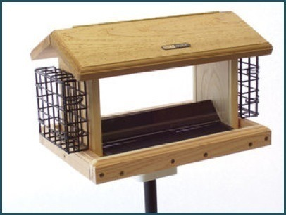 2-Sided Hopper Feeder  2 Suet Cages WC2-200SS