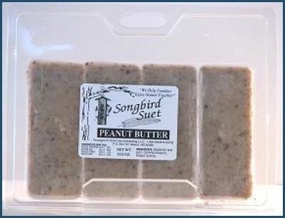 Songbird suet logs Peanut Butter
