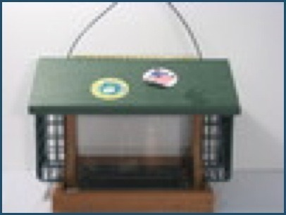 Recycled Large Feeder with Suet Cages