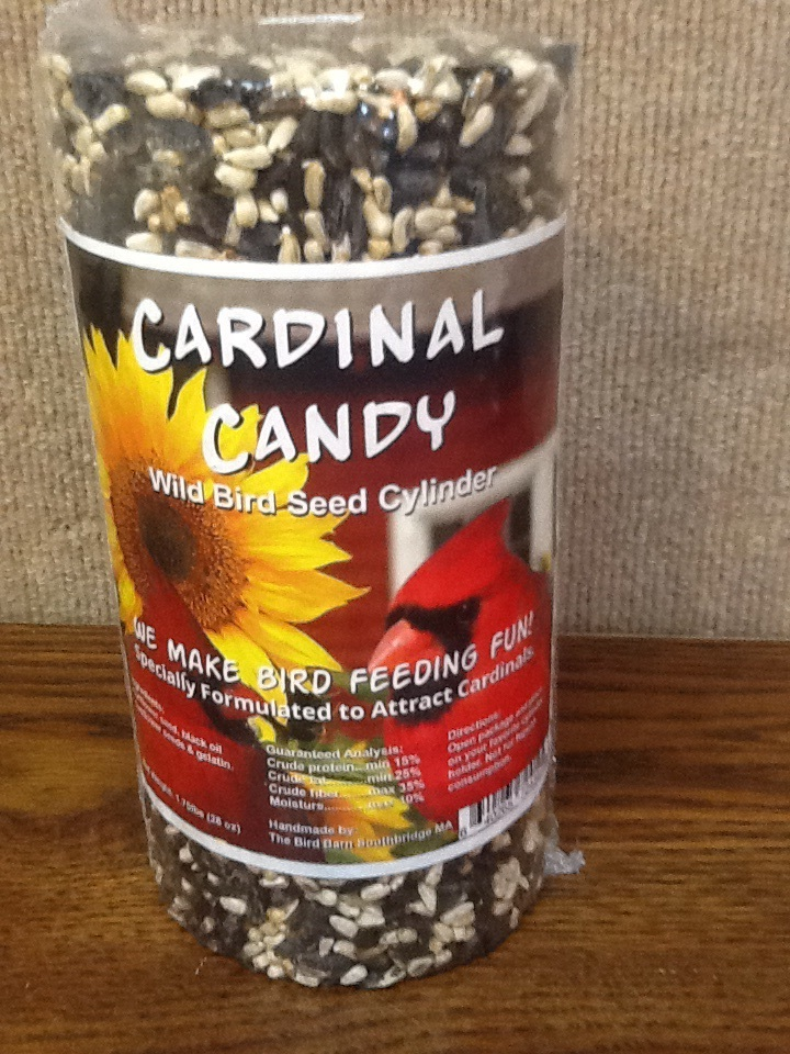 "8"" Cardinal Candy Seed Cylinder"