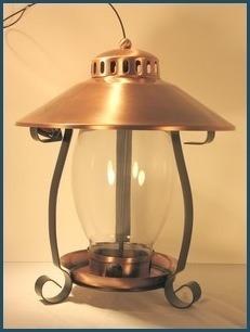 Coppertop Brushed Copper Lantern Feeder