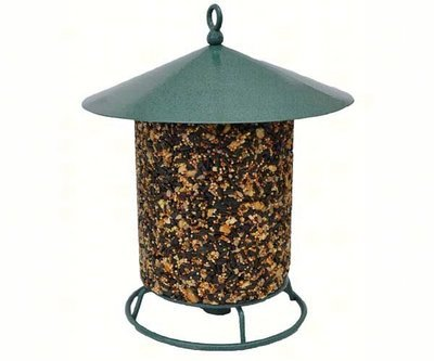 Seed log holder with cover