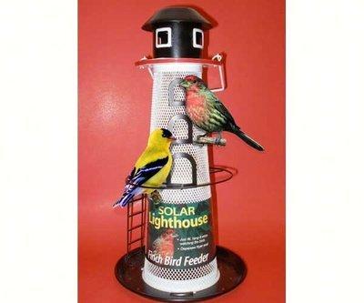 Nyjer solar lighthouse feeder