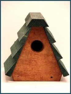 Wooden A-Frame Wren house