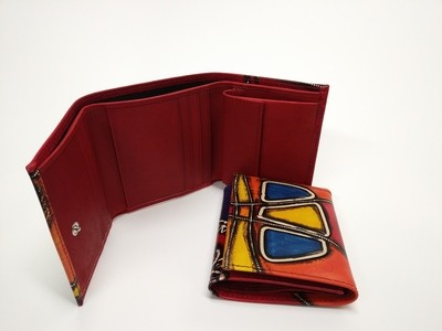 Trifold Handpainted genuine leather
