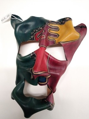 Handpainted leather Mask