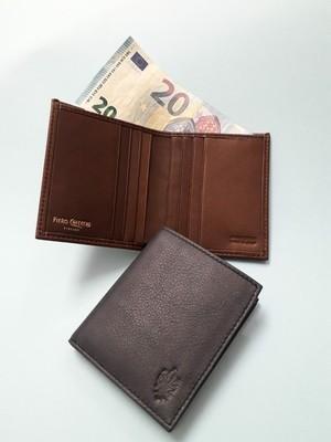 Slim bifold gunuine leather wallet