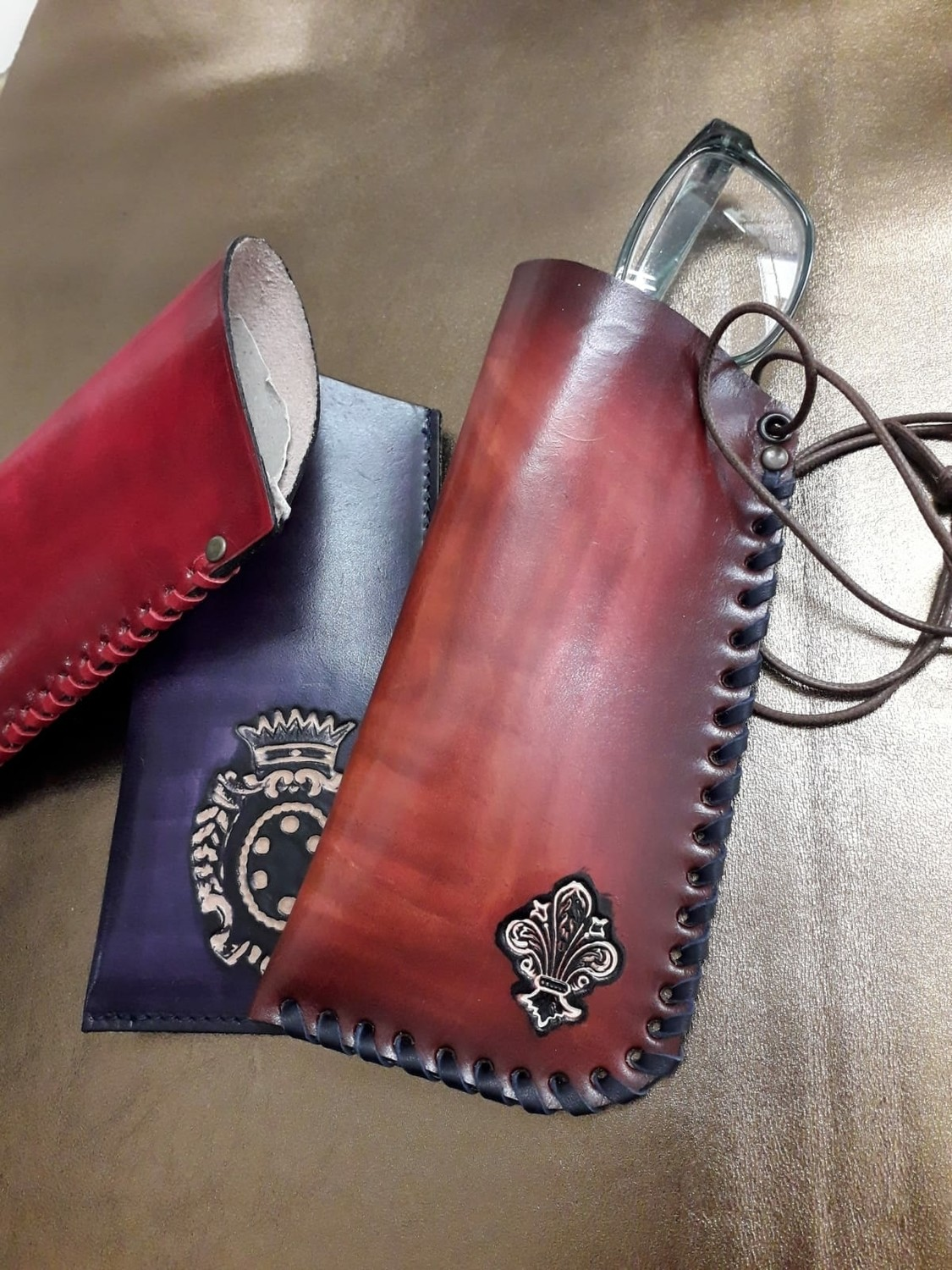 Leather eyeglasses cover