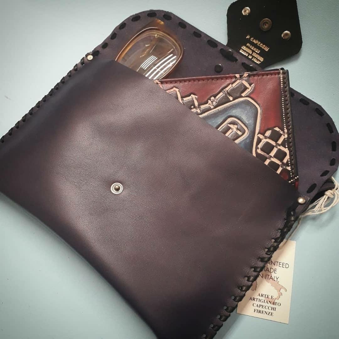 Leather purse (envelope bag)