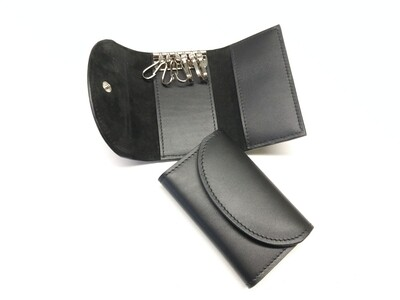 Folding leather keys case