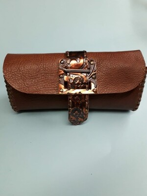 Leather Clutch bag handcrafted pochette