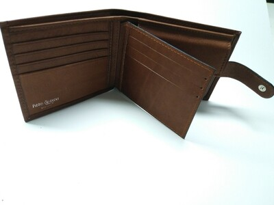 Genuine leather wallet 100% made in Italy
