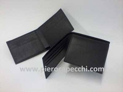 Slim leather wallet Made in Italy