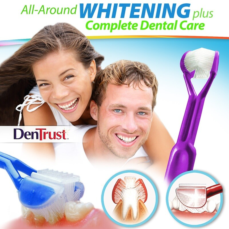 DenTrust WHITE-ON 3-Sided Whitening Toothpaste Applicator :: Easily & Evenly Apply Whitener's - Plus, Provide Complete Dental Care at the Same Time