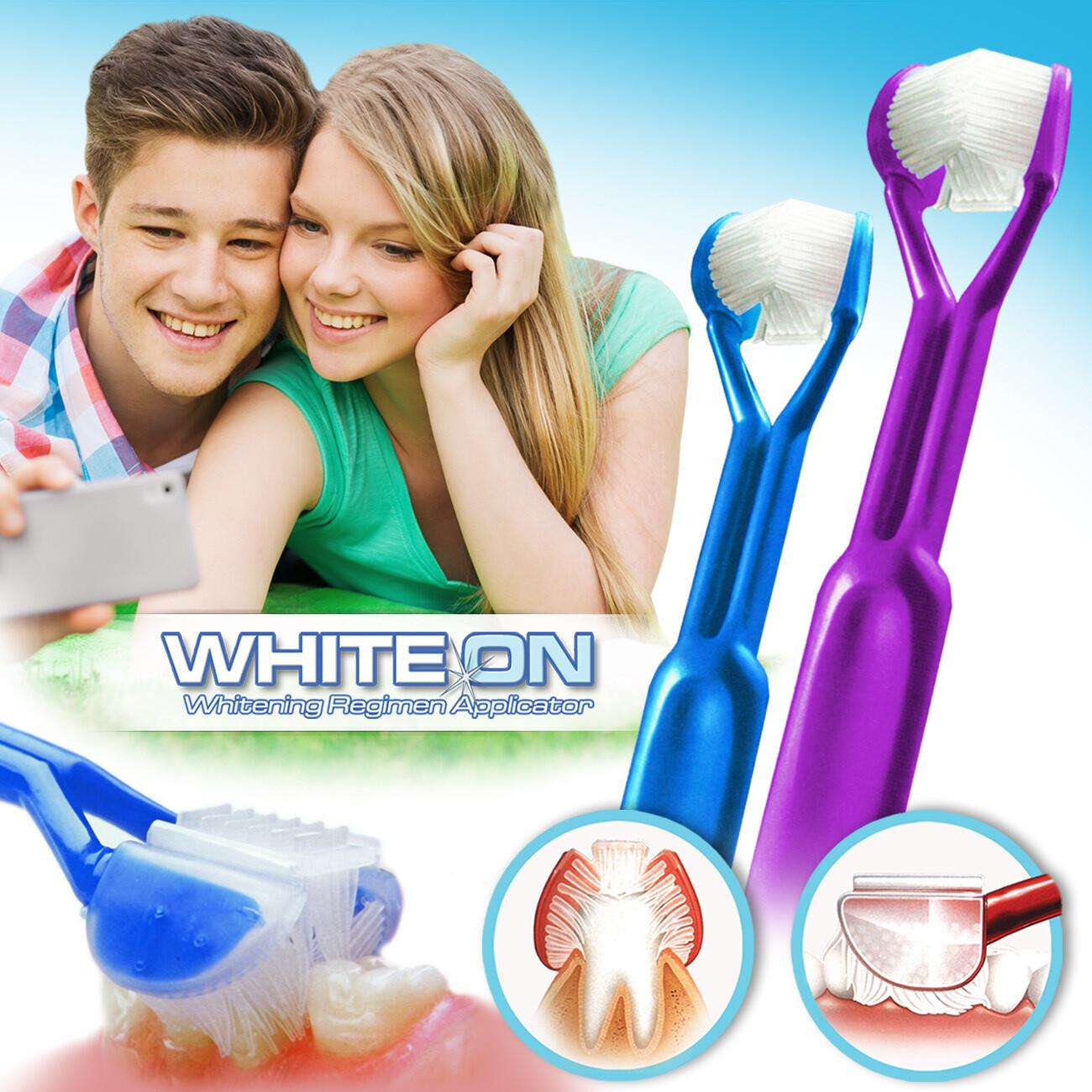 2-PK: DenTrust WHITE-ON 3-Sided Whitening Toothpaste Applicator :: Easily & Evenly Apply Whitener's - Plus, Provide Complete Dental Care at the Same Time