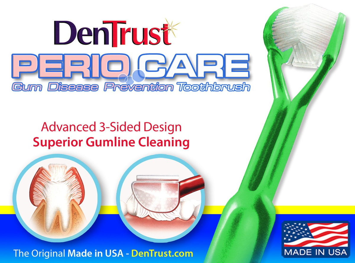 DenTrust 3-Sided Specialty Toothbrush :: for Periodontal Disease / Gum Care DENTRUST - PERIOCARE