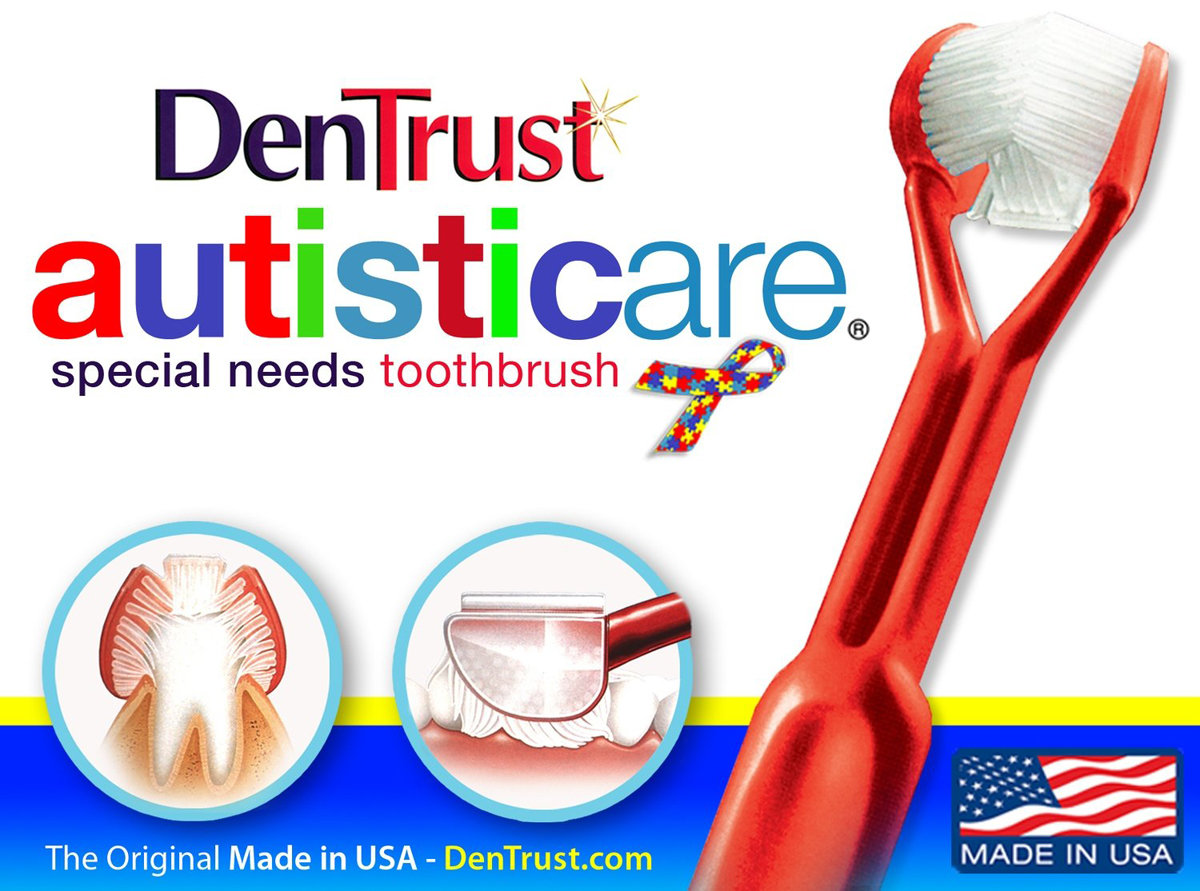 DenTrust 3-Sided Toothbrush :: for Autism / Autistic / Special Needs DENTRUST-AUTISM
